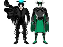 Loki and Hades by Kwnnos