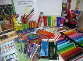 traditional art tools by Bellchen87
