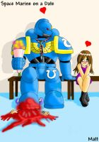 SPace Marine on a date by mattwilson83