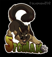 Badge Commission: Stomak by SilverDeni