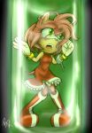Amy Rose in the Robotisizer by TurtieDroppings