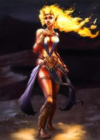 Pira, Ifrit Sorceress by Smolin