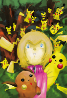 Pink in the Pikachu forest by Kell0x