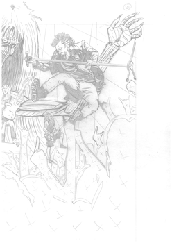 Iron Maiden page 21 2of2 spread pencils by DarrenEmond