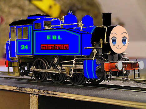Mirabelle The Blue Tank Engine no.24 by grantgman