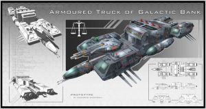 Armoured Truck of Galactic Bank by capottolo