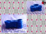 Cute Hand Made Blue Bow Ring by cherrybomb-81