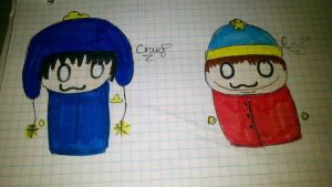 South Park Chibis Part 2 by SpazzyPineapple101
