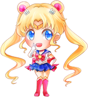 [ jello chibi ] sailor moon by sleepypandie