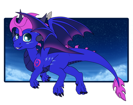 Chibi dragon blaze by Anais-thunder-pen