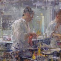 Quang Ho - Kitchen Atmosphere 3 by OilPaintersofAmerica