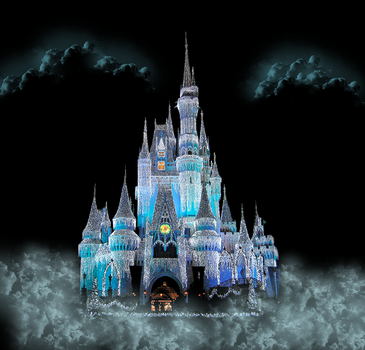 Castle Front View in the Cloud by WDWParksGal-Stock
