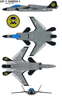 S.H.I.E.L.D ASF-X Shinden II by bagera3005
