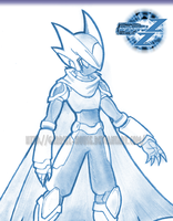 Rockman Doble Z - Model Zhadow by Gabriel-House