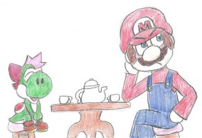 What happens when Mario watches Little Apper V2 by MomokoTuHarumaki