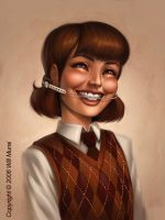 School Portrait painting by whmurai
