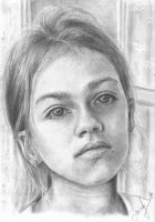 Cute girl drawing - better view by keopsa