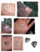 Silver heart -making- by MirielDesign