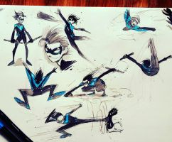 Kid NightWing by COLOR-REAPER
