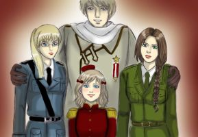 Russia and Nyo!Baltics_Dance me to the end of Love by EPH-SAN1634