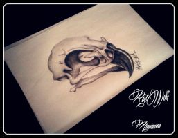 owl skull by rotwolf93