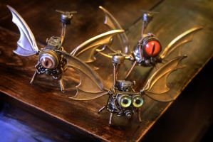 Steampunk Dragon Drones by CatherinetteRings