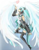 Miku - Wing of the heart 2014 by DeathKLovC