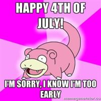 Slowpoke - Happy 4th of July by juanito316ss