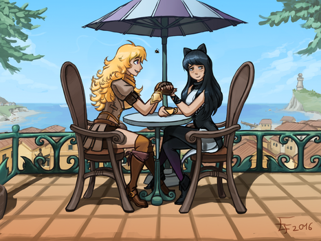 Blake and Yang - RWBY fan art by edwo