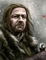 Eddard Stark from Winterfell by LochaPowa