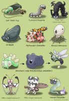 Pokefied Bugs by princess-phoenix