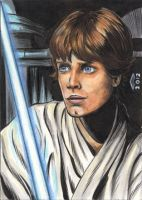 LUKE SKYWALKER 1 SKETCH CARD by AHochrein2010