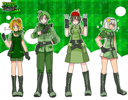 Plants Vs Zombies Gijinka-Part I- by ROSEL-D