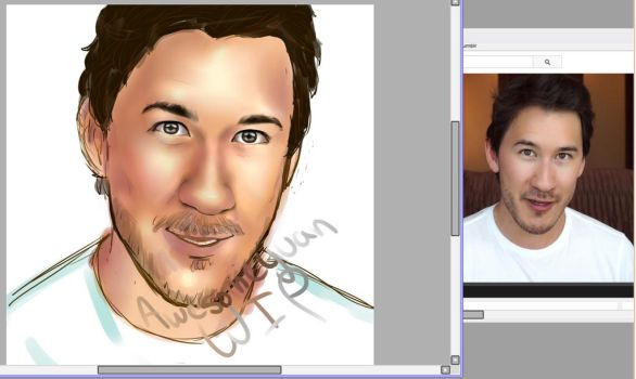 Markiplier WIP by awesomeyuan