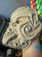 Tribal Bird Mask PROGRESS 2 by I-EAT-SOULS