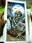 Zombie colored [coloring book image] by FedericoMex