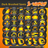 Dark Brushed Spots Orange by BSided
