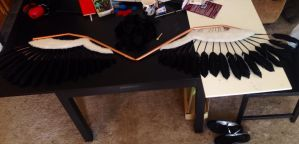 Akuma Homura wings WIP 1 by Deanna-Lee