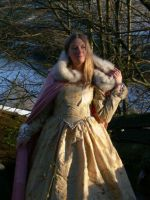 Tudor gown and cloak by Abigial709b