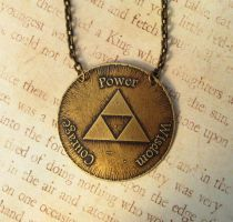 Antiqued Brass Triforce Medalion by FusedElegance