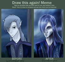 Draw it Again Meme: Kaiwyn by Xovinx