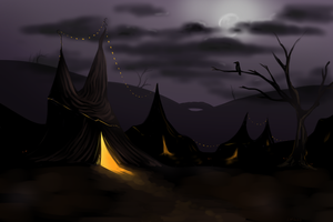 Creepy Circus bg concept 1 by ZazzyPaws