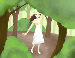 Girl in the Forest by littlebookie