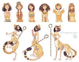 Character Design: Cleopatra Character Study by MeoMai