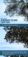 Quck way to add light ray to artwork by mclelun