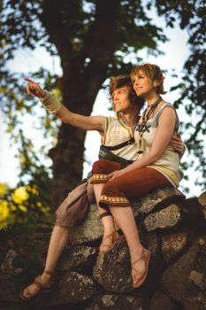 Zelda Twilight Princess - Link and Ilia at sunset by UltraCosplay