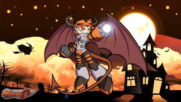 Mighty No 9 Halloween - Demon Beck by K4Z1