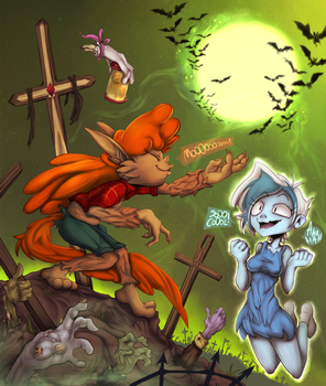 {???/Fanart/Exercise} GHOULS NIGHT OUT by Drimir