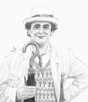 7th Doctor Portrait by ThePeculiarMissE