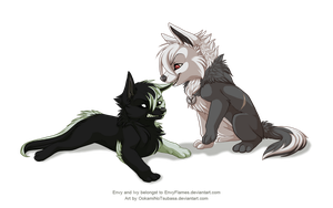 Chibi Commisions - Envy and Ivy by OokamiNoTsubasa